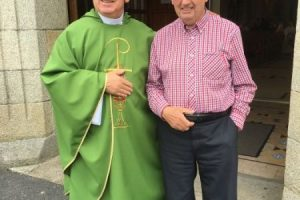 Fr Seamus Whelan After Mass in Borris on 13/08/2017